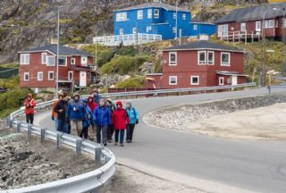 Group excursion in Sisimiut, Greenland